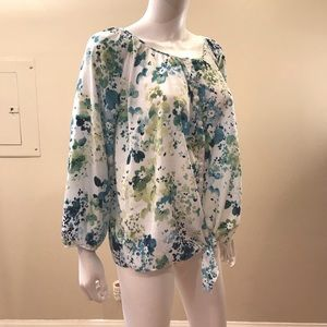 Cato Floral Top Button Up Tie Front